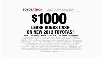 2012 Toyota Camry LE TV Spot, 'Toyotathan: Lucky Guess' - Thumbnail 8