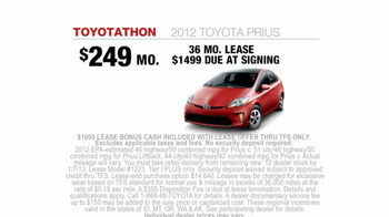2012 Toyota Prius TV Spot, 'Toyotathon: Save on Gas' - Thumbnail 9