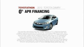 Toyota TV Spot  'Toyotathon: Camry' - 43 commercial airings