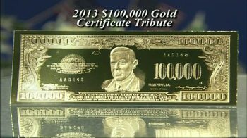 100,000 Gold Certificate Tribute thumbnail