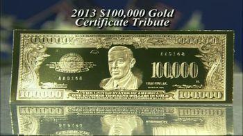 100,000 Gold Certificate Tribute TV Spot