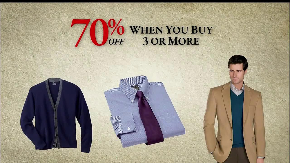 JoS. A. Bank TV Commercial, '60-70% off: December 2012'