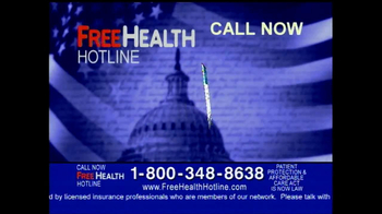 Free Health Hotline TV Spot