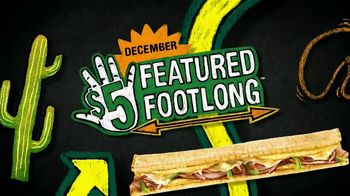 Subway Western Egg and Cheese TV Spot, 'December $5-Footlong' - 649 commercial airings