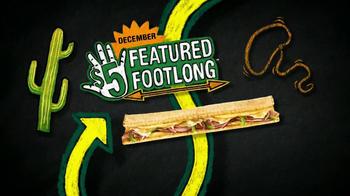 Subway Western Egg and Cheese TV Spot, 'December $5-Footlong' - Thumbnail 3