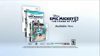 Disney Epic Mickey 2: The Power of Two TV Spot, 'The Next Chapter'