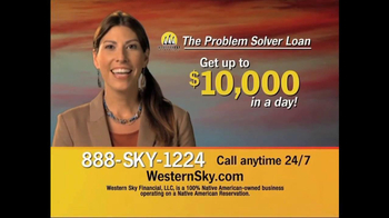 Western Sky Financial Problem Solver Loan TV Spot