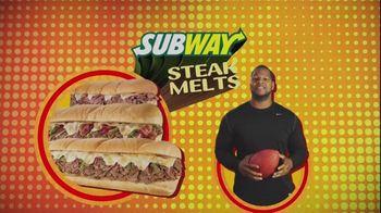 Subway Steak Melts TV Spot Feat. Michael Strahan, Ndamukong Suh - 9 commercial airings