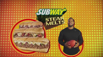 Subway Steak Melts TV Spot Feat. Michael Strahan, Ndamukong Suh - 9 commercial airings