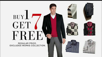 JoS. A. Bank TV Spot, 'Buy One, Get 7 Free: Sportcoat'  - 46 commercial airings