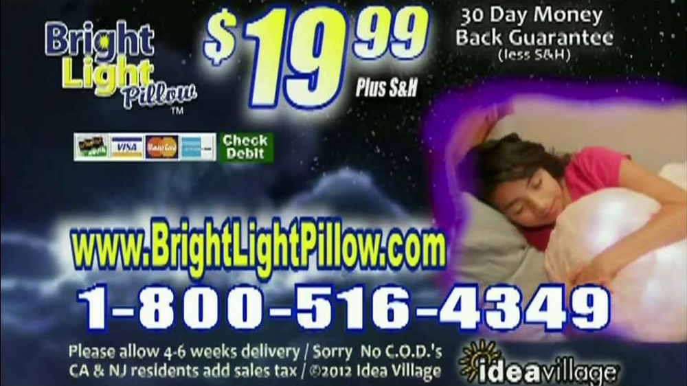 Bright Light Pillow TV Commercial, 'Afraid of the Dark'