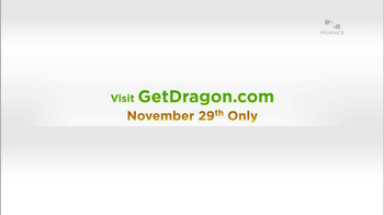 Nuance Dragon TV Spot, 'Today Only' - Thumbnail 1