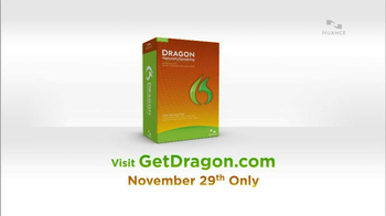 Nuance Dragon TV Spot, 'Today Only'