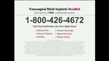 Goldwater Law Firm TV Spot, 'Transvaginal Mesh' - Thumbnail 5
