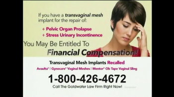 Goldwater Law Firm TV Spot, 'Transvaginal Mesh' - Thumbnail 2