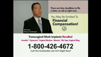 Goldwater Law Firm TV Spot, 'Transvaginal Mesh' - Thumbnail 3