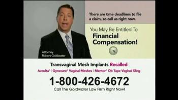 Goldwater Law Firm TV Spot, 'Transvaginal Mesh' - Thumbnail 4