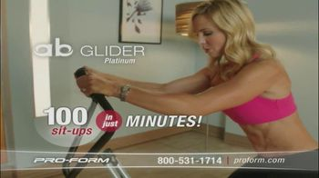 Pro-Form Ab Glider Platinum TV Spot Featuring Elisabeth Hasselback