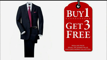 JoS. A. Bank Super Tuesday Sale TV Spot, '4 Suits for the Price of 1'  - 116 commercial airings