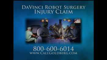 Goldberg Attorneys, P.C. TV Spot, 'DaVinci Robot Surgery' - Thumbnail 1