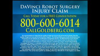 Goldberg Attorneys, P.C. TV Spot, 'DaVinci Robot Surgery' - Thumbnail 5