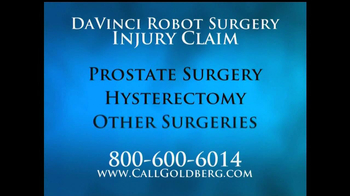 Goldberg Attorneys, P.C. TV Spot, 'DaVinci Robot Surgery' - Thumbnail 2