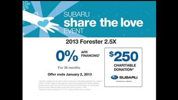 2013 Subaru Forester TV Spot, 'Share the Love Event'  - Thumbnail 10