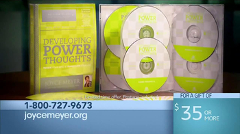 Joyce Meyer Ministries Developing Power Thoughts TV Spot