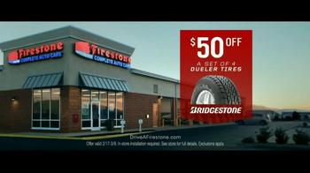 Firestone Complete Auto Care TV Spot, 'Hard Working Tires'