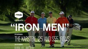 Ping Golf Karsten i25 TV Spot, 'Iron Men' Feat Bubba Watson, Lee Westwood - 97 commercial airings