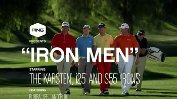 Ping Golf Karsten i25 TV Spot, 'Iron Men' Feat Bubba Watson, Lee Westwood