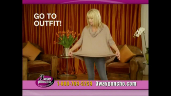 3-Way Poncho TV Spot Featuring Suzanne Somers - Thumbnail 3