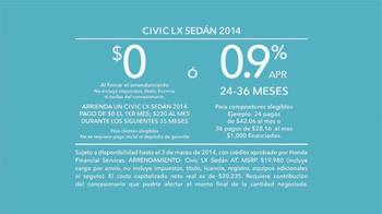 2014 Honda Civic TV Spot, 'Pedir Prestado' [Spanish] - Thumbnail 10