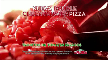 Papa John's Double Cheeseburger Pizza TV Spot [Spanish] - Thumbnail 7