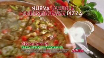 Papa John's Double Cheeseburger Pizza TV Spot [Spanish] - Thumbnail 8