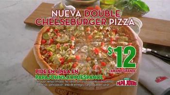 Papa John's Double Cheeseburger Pizza TV Spot [Spanish] - Thumbnail 9