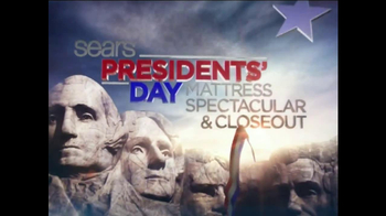 Sears Presidents Day Mattress Sale 2014 TV Spot