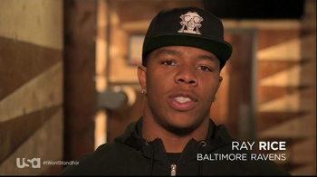 USA Network TV Spot, 'Characters Unite' Featuring Ray Rice - Thumbnail 1