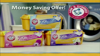 Arm and Hammer Total 2-in-1 Dryer Clothes TV Spot - Thumbnail 2
