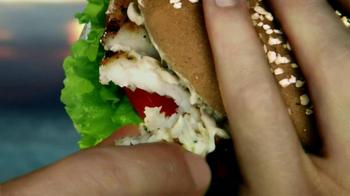Carl's Jr. Charbroiled Atlantic Cod Fish Sandwich TV Spot Ft. Nina Agdal - Thumbnail 7
