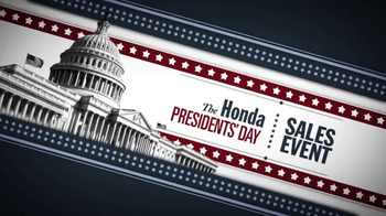 The Honda Presidents' Day Sales Event TV Spot, 'Commanding Offers' - Thumbnail 1
