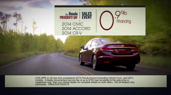 The Honda Presidents' Day Sales Event TV Spot, 'Commanding Offers' - Thumbnail 6
