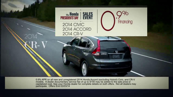 The Honda Presidents' Day Sales Event TV Spot, 'Commanding Offers' - Thumbnail 7