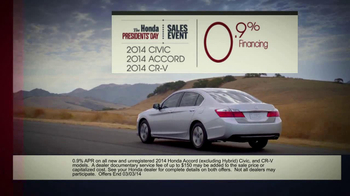 The Honda Presidents' Day Sales Event TV Spot, 'Commanding Offers' - Thumbnail 8