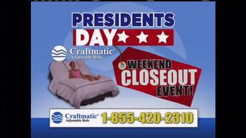 Craftmatic President's Day Sale 2014 TV Spot