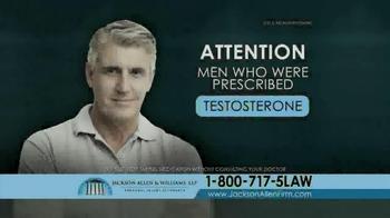 Jackson Allen and Williams TV Spot, 'Testosterone' - Thumbnail 1