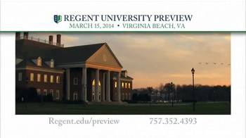 Regent University TV Spot, 'Preview' - Thumbnail 10