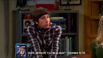 The Big Bang Theory Season 7 on Blu-ray Combo, DVD & Digital HD TV Spot - Thumbnail 1