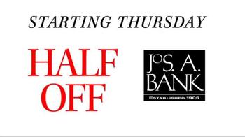 JoS. A. Bank TV Spot, 'September: Half Off, 3rd Free' - Thumbnail 2