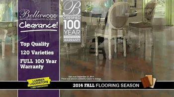 Lumber Liquidators Bellawood Clearance TV Spot, \'2014 Fall Flooring Season\'